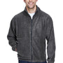 UltraClub Mens Iceberg Full Zip Fleece Jacket - Charcoal Grey