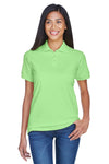 UltraClub 8530 Womens Classic Short Sleeve Polo Shirt Apple Green Front