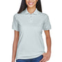 UltraClub Womens Classic Short Sleeve Polo Shirt - Silver Grey