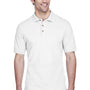 UltraClub Mens Classic Short Sleeve Polo Shirt - White
