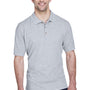 UltraClub Mens Classic Short Sleeve Polo Shirt - Heather Grey