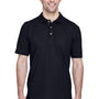 UltraClub Mens Classic Short Sleeve Polo Shirt - Black