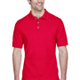 UltraClub Mens Classic Short Sleeve Polo Shirt - Red