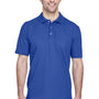 UltraClub Mens Classic Short Sleeve Polo Shirt - Royal Blue
