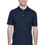 UltraClub Mens Classic Short Sleeve Polo Shirt - Navy Blue