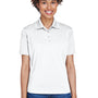 UltraClub Womens Cool & Dry 8 Star Elite Performance Moisture Wicking Short Sleeve Polo Shirt - White