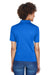 UltraClub 8610L Womens Cool & Dry 8 Star Elite Performance Moisture Wicking Short Sleeve Polo Shirt Royal Blue Back