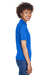 UltraClub 8610L Womens Cool & Dry 8 Star Elite Performance Moisture Wicking Short Sleeve Polo Shirt Royal Blue Side