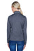 UltraClub 8618W Womens Heather Cool & Dry Performance Moisture Wicking 1/4 Zip Sweatshirt Navy Blue Back