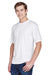 UltraClub 8620 Mens Cool & Dry Performance Moisture Wicking Short Sleeve Crewneck T-Shirt White Front