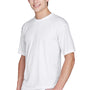 UltraClub Mens Cool & Dry Performance Moisture Wicking Short Sleeve Crewneck T-Shirt - White