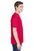 UltraClub 8620 Mens Cool & Dry Performance Moisture Wicking Short Sleeve Crewneck T-Shirt Red Side