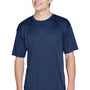 UltraClub Mens Cool & Dry Performance Moisture Wicking Short Sleeve Crewneck T-Shirt - Navy Blue