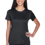 UltraClub Womens Cool & Dry Performance Moisture Wicking Short Sleeve Crewneck T-Shirt - Black