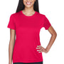 UltraClub Womens Cool & Dry Performance Moisture Wicking Short Sleeve Crewneck T-Shirt - Red