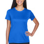 UltraClub Womens Cool & Dry Performance Moisture Wicking Short Sleeve Crewneck T-Shirt - Royal Blue