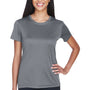 UltraClub Womens Cool & Dry Performance Moisture Wicking Short Sleeve Crewneck T-Shirt - Charcoal Grey