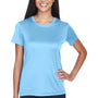 UltraClub Womens Cool & Dry Performance Moisture Wicking Short Sleeve Crewneck T-Shirt - Columbia Blue