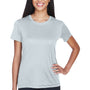 UltraClub Womens Cool & Dry Performance Moisture Wicking Short Sleeve Crewneck T-Shirt - Grey