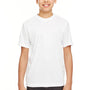 UltraClub Youth Cool & Dry Performance Moisture Wicking Short Sleeve Crewneck T-Shirt - White