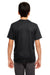 UltraClub 8620Y Youth Cool & Dry Performance Moisture Wicking Short Sleeve Crewneck T-Shirt Black Back