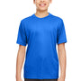 UltraClub Youth Cool & Dry Performance Moisture Wicking Short Sleeve Crewneck T-Shirt - Royal Blue