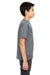 UltraClub 8620Y Youth Cool & Dry Performance Moisture Wicking Short Sleeve Crewneck T-Shirt Charcoal Grey Side