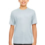UltraClub Youth Cool & Dry Performance Moisture Wicking Short Sleeve Crewneck T-Shirt - Grey