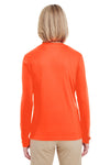 UltraClub 8622W Womens Cool & Dry Performance Moisture Wicking Long Sleeve Crewneck T-Shirt Orange Back
