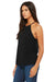 Bella + Canvas 8809 Womens Flowy High Neck Tank Top Black Side