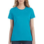 Anvil Womens Caribbean Blue Short Sleeve Crewneck T-Shirt
