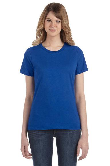 Anvil 880 Womens Short Sleeve Crewneck T-Shirt Royal Blue Front