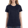 Anvil Womens Navy Blue Short Sleeve Crewneck T-Shirt