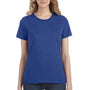Anvil Womens Short Sleeve Crewneck T-Shirt - Heather Blue