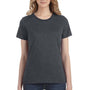 Anvil Womens Heather Dark Grey Short Sleeve Crewneck T-Shirt
