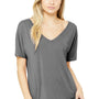 Bella + Canvas Womens Grey Triblend Slouchy Short Sleeve V-Neck T-Shirt