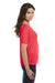 Bella + Canvas 8815 Womens Slouchy Short Sleeve V-Neck T-Shirt Coral Orange Side