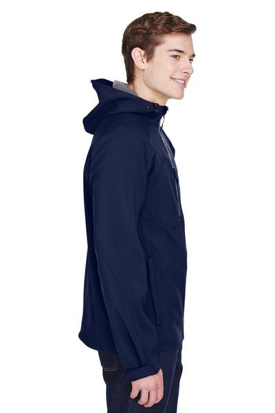 North End 88166 Mens Prospect Water Resistant Full Zip Hooded Jacket Navy Blue Side