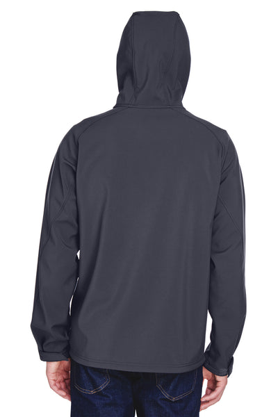 North End 88166 Mens Prospect Water Resistant Full Zip Hooded Jacket Fossil Grey Back
