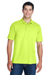 Core 365 88181 Mens Origin Performance Moisture Wicking Short Sleeve Polo Shirt Safety Yellow Front