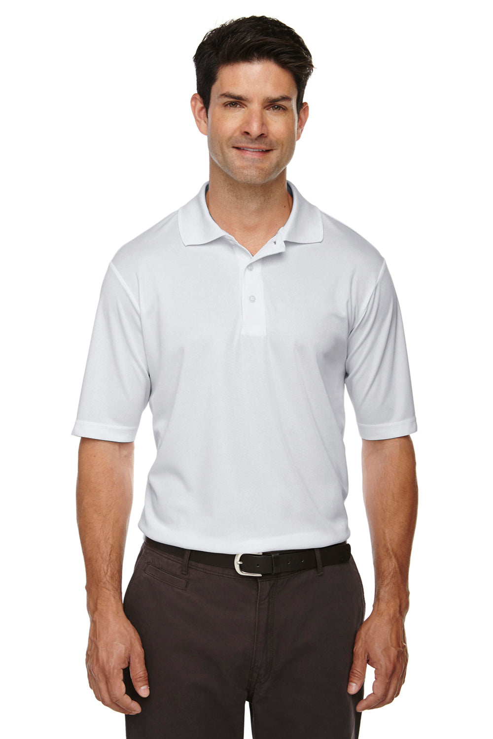 Core 365 88181 Mens Origin Performance Moisture Wicking Short Sleeve Polo Shirt Platinum Grey Front