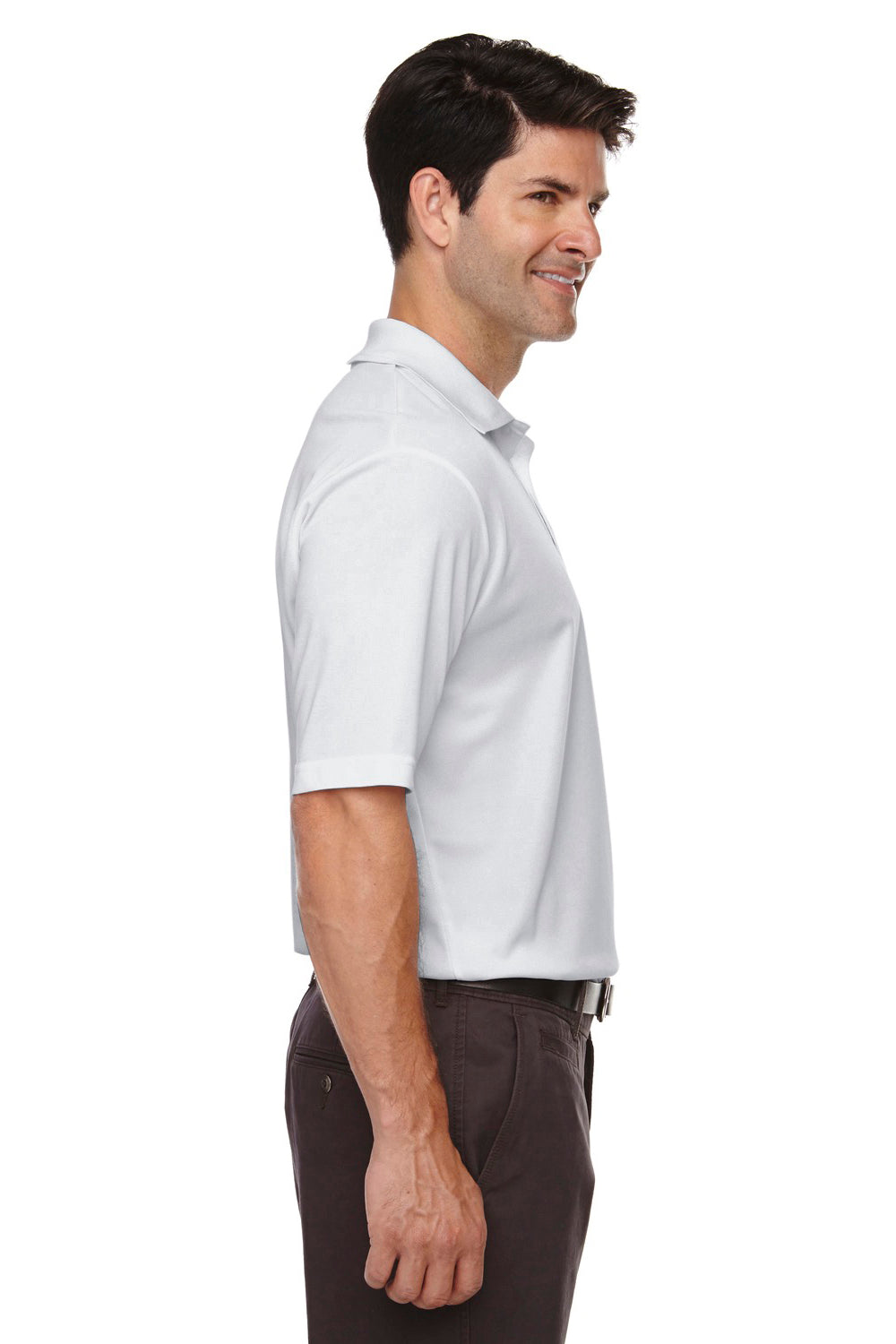 Core 365 88181 Mens Origin Performance Moisture Wicking Short Sleeve Polo Shirt Platinum Grey Side