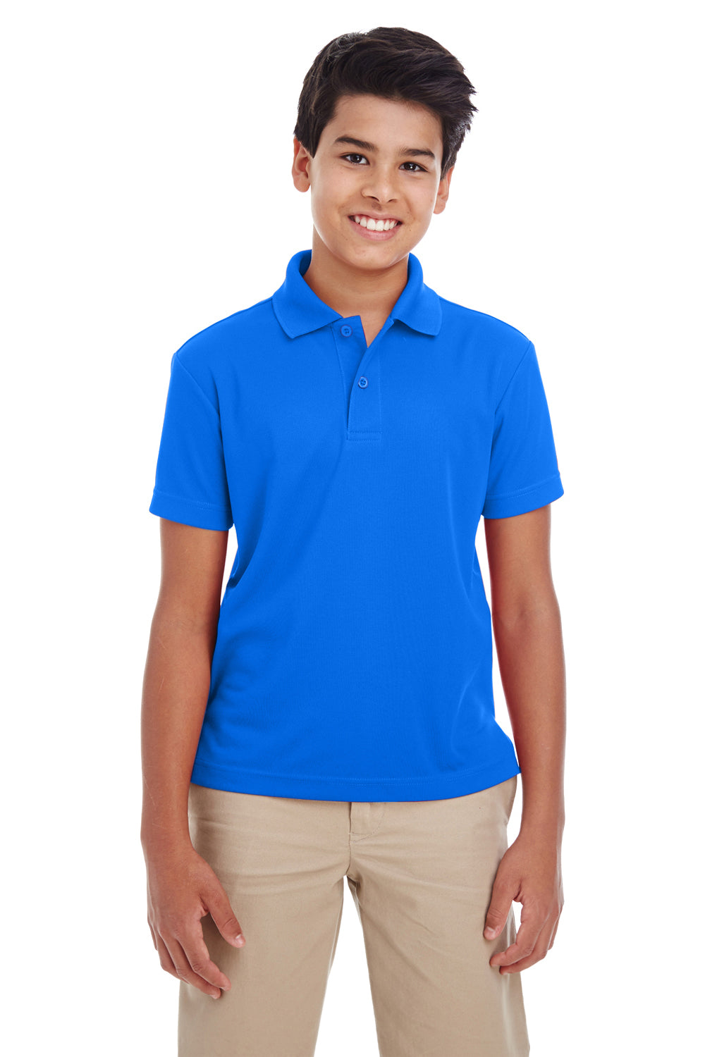 Core 365 88181Y Youth Origin Performance Moisture Wicking Short Sleeve Polo Shirt Royal Blue Front