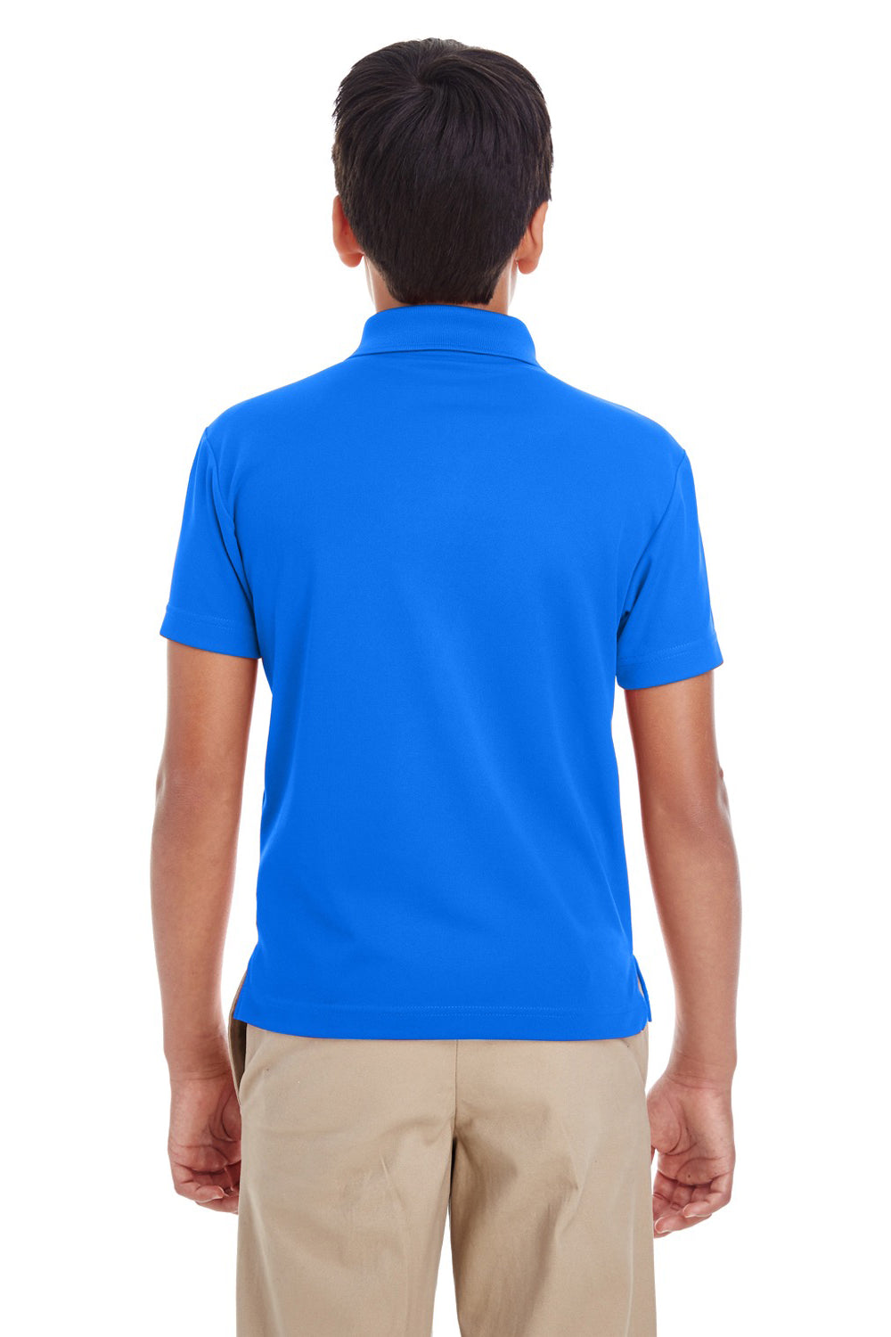 Core 365 88181Y Youth Origin Performance Moisture Wicking Short Sleeve Polo Shirt Royal Blue Back