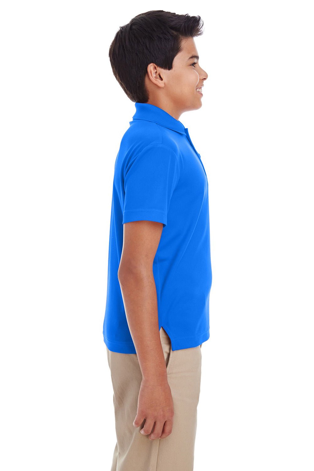 Core 365 88181Y Youth Origin Performance Moisture Wicking Short Sleeve Polo Shirt Royal Blue Side