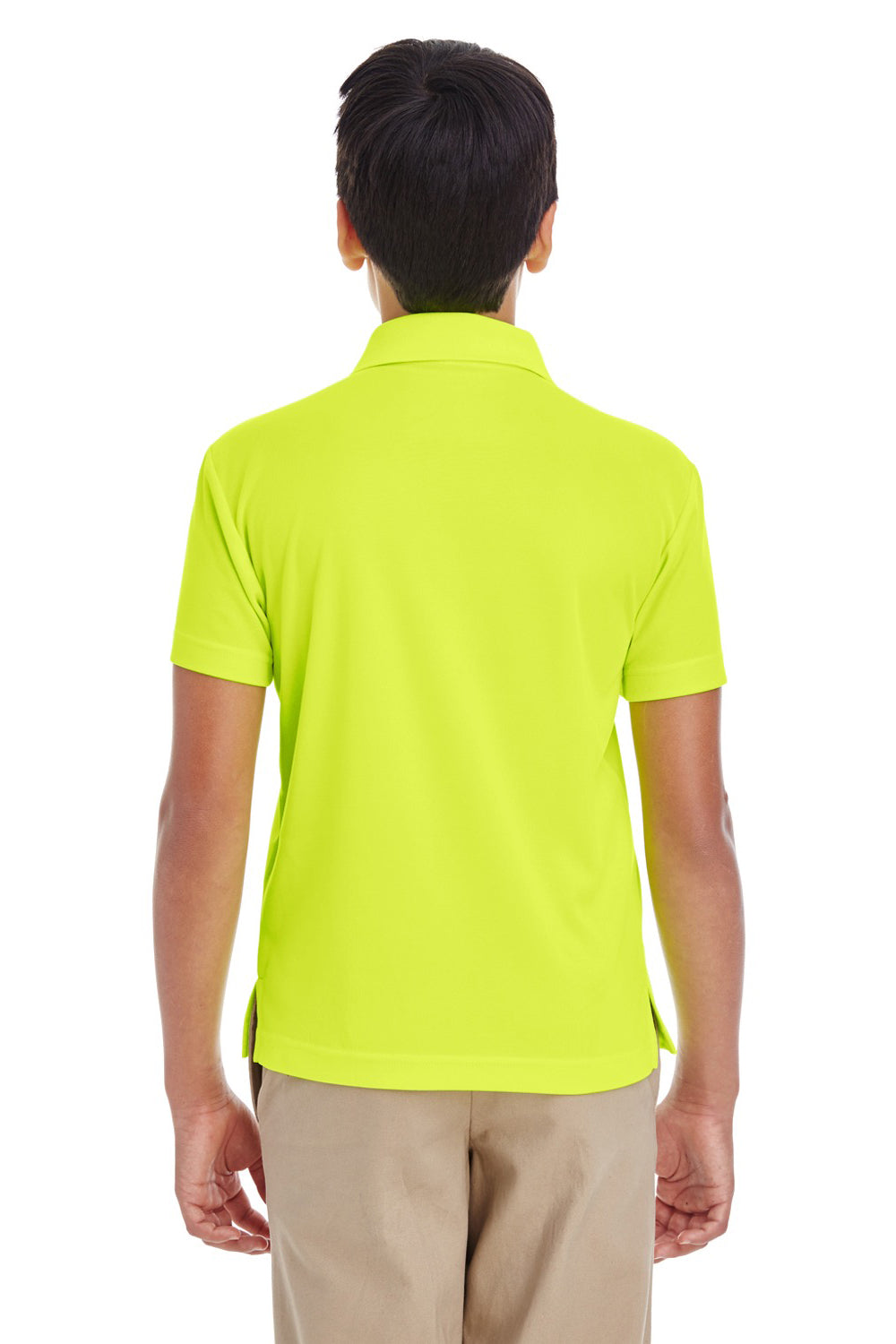 Core 365 88181Y Youth Origin Performance Moisture Wicking Short Sleeve Polo Shirt Safety Yellow Back