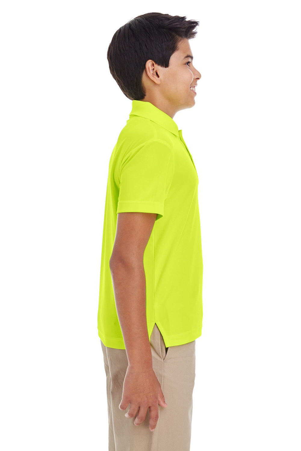 Core 365 88181Y Youth Origin Performance Moisture Wicking Short Sleeve Polo Shirt Safety Yellow Side