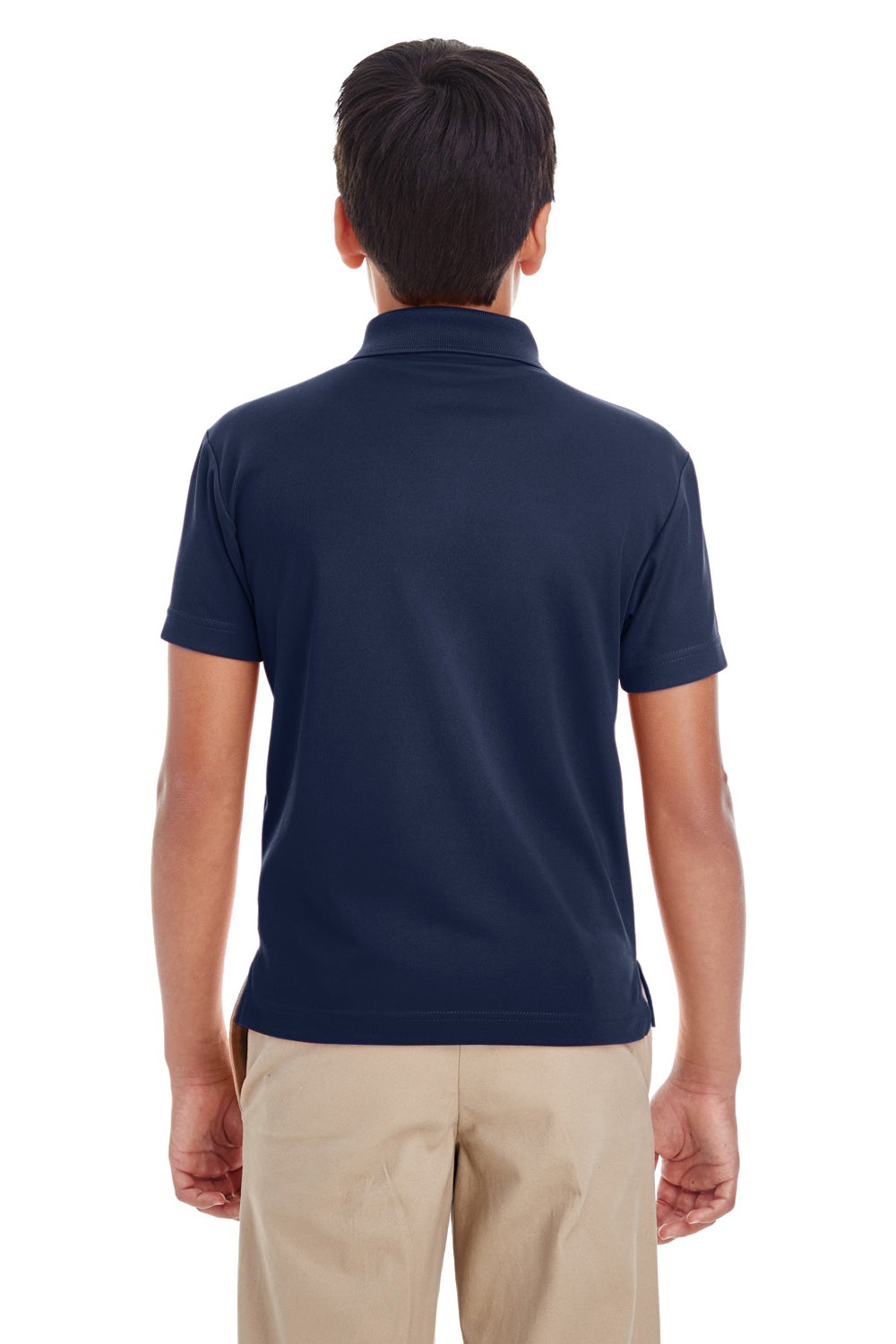 Core 365 88181Y Youth Origin Performance Moisture Wicking Short Sleeve Polo Shirt Navy Blue Back