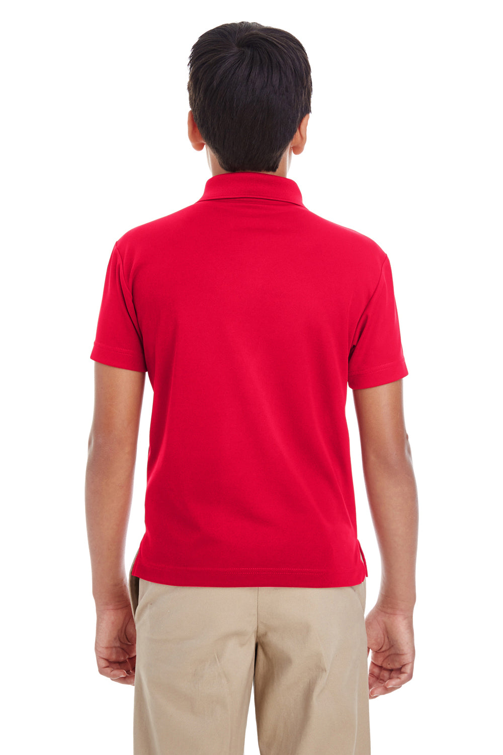 Core 365 88181Y Youth Origin Performance Moisture Wicking Short Sleeve Polo Shirt Red Back