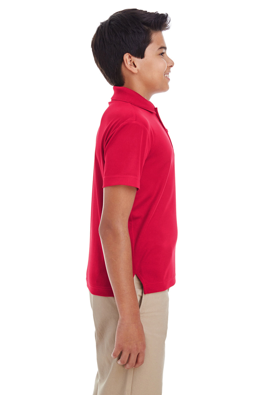 Core 365 88181Y Youth Origin Performance Moisture Wicking Short Sleeve Polo Shirt Red Side